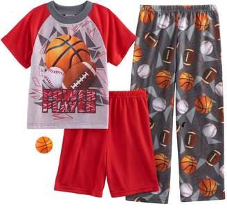 Up Late Boys 4-12 Up-Late Power Play 3-Piece Pajama Set