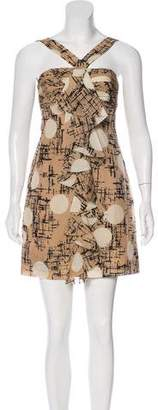 Robert Rodriguez Printed Silk Mini Dress