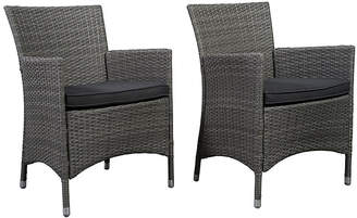 International Home Miami Gray Liberty Patio Armchairs - Set of 2