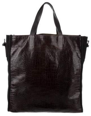 Dries Van Noten Embossed Leather Tote