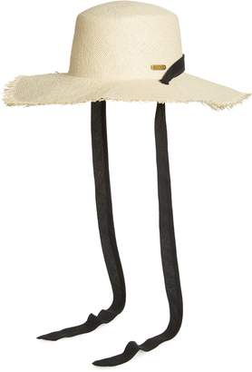 San Diego Hat Fringed Sun Hat with Ribbon