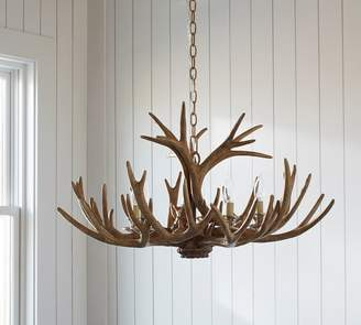 Pottery Barn Faux Antler Chandelier
