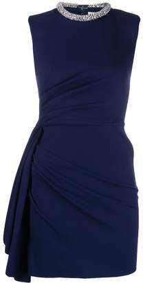 Alexander McQueen embellished draped short dress