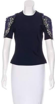 Yigal Azrouel Embroidered Bodycon Top