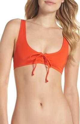 J.Crew Marie Lace-Up Bikini Top
