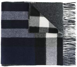 Burberry Reversible Check and Melange Cashmere Scarf