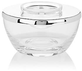 Barneys New York Crystal Small Caviar Bowl With Silver-Plated Lid-Silver-plate