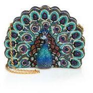 Judith Leiber Swarovski Crystal & Sodalite Peacock Clutch $5,995 thestylecure.com