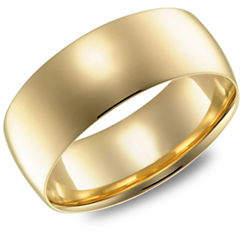 Tag Heuer FINE JEWELLERY 14K Yellow Gold 7MM Wedding Band