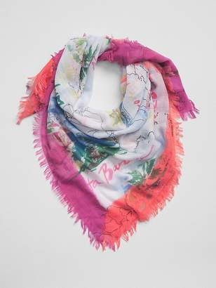 Gap Map Print Scarf