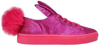 20mm Glitter Fabric Bunny Tail Sneakers