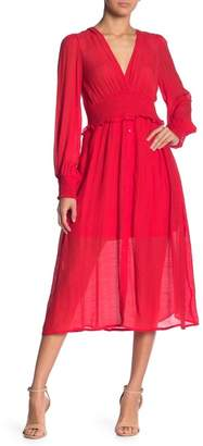 Flying Tomato Smocked Waist Midi Dress