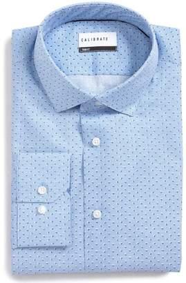 F&F CALIBRATE Trim Fit Print Dress Shirt