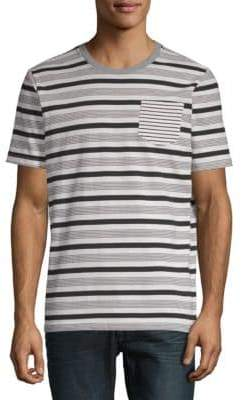 Sovereign Code Striped Henley Cotton Tee