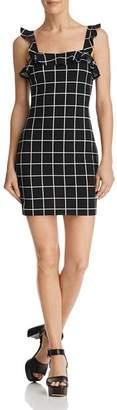 Aqua Ruffled Windowpane Dress - 100% Exclusive