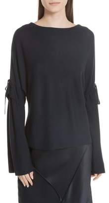 Vince Tie Sleeve Merino Wool Sweater