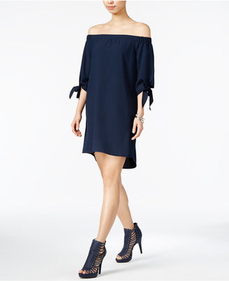Bar Iii Off-The-Shoulder Shift Dress, Only at Macy's $79.50 thestylecure.com