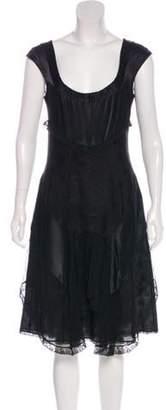 Christian Lacroix Silk Midi Dress Black Silk Midi Dress
