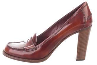 Prada Patent Leather Penny Loafer Pumps