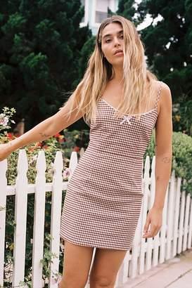 a5ecdf480c5 Urban Outfitters Tahoe Gingham Stretch Mini Dress
