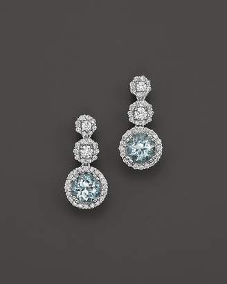 Bloomingdale's Aquamarine and Diamond Drop Earrings in 14K White Gold - 100% Exclusive