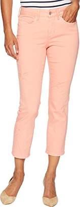 NYDJ Women's Petite Size Sheri Ankle Laser Cut Starfish Jean