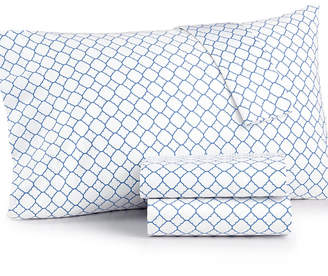 Charter Club Damask Designs Printed Geo Full 4-pc Sheet Set, 500 Thread Count, Created for Macy's Bedding