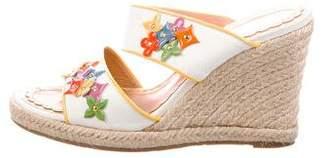 Louis Vuitton Fleur Embellished Espadrille Sandals