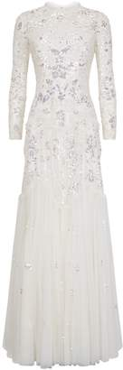 Needle & Thread Tiered Gloss Bridal Gown
