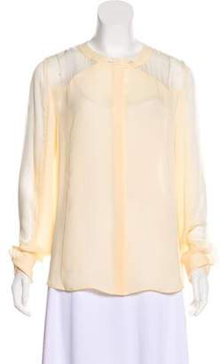Tamara Mellon Silk Button-Up Top