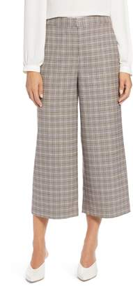 Halogen Plaid Wide Leg Crop Pants