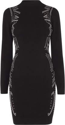 Karen Millen Embellished Bodycon Dress