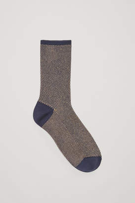 Cos METALLIC JACQUARD SOCKS