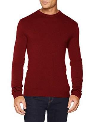 Benetton Men's Sweater L/s Jumper, (Brick Red Melange 5a3), (Size: EL)