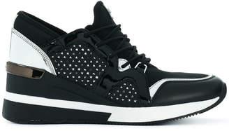 Michael Kors perforated wedge heel sneakers