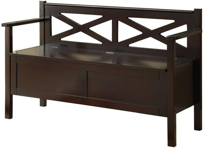 Monarch Specialties Cappuccino Storage Bench