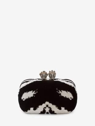 Alexander McQueen Queen And King Classic Skull Clutch