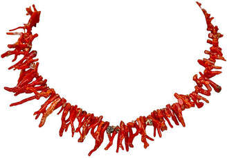 One Kings Lane Vintage 14K Gold & Red Branch Coral Necklace