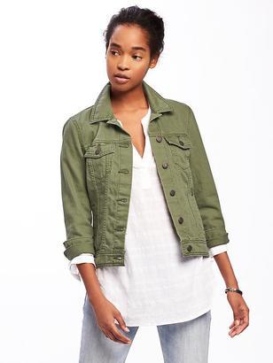Olive-Green Denim Jacket for Women $34.94 thestylecure.com