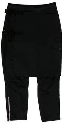 Dries Van Noten Kilt-Accented Skinny Pants