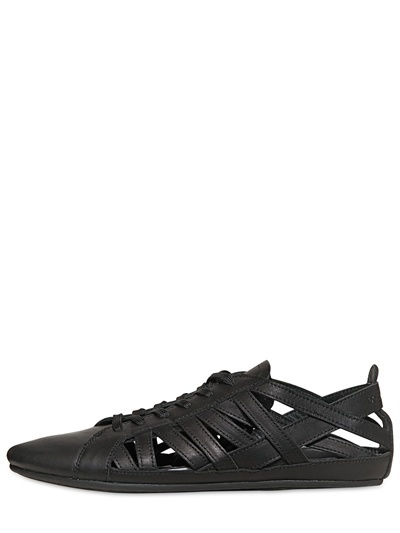 Dolce & Gabbana Madagascar Leather Cut Out Sneakers