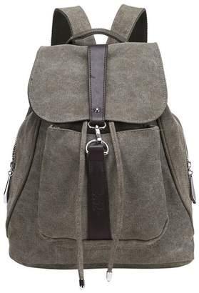 fce25a92621e Hynbase Fashion Women Large Travel Canvas Rucksack Backpack Shoulder Bag