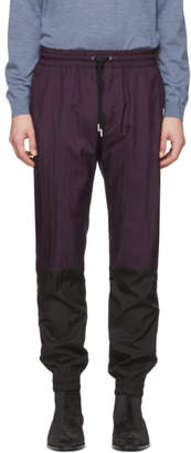 Givenchy Purple Two-Toned Vertical Lounge Pants