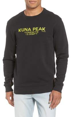 Frame Slim Fit Kuna Peak Graphic Sweatshirt