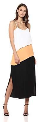 Armani Exchange A|X Women's Asymmetrical Stripe Dress