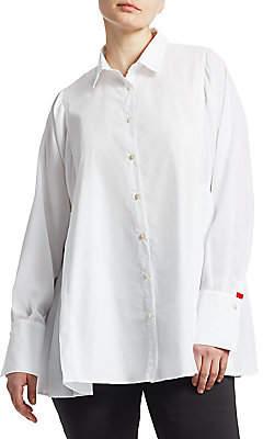 Marina Rinaldi Marina Rinaldi, Plus Size Marina Rinaldi, Plus Size Women's Baghera Pleated Button-Down Shirt