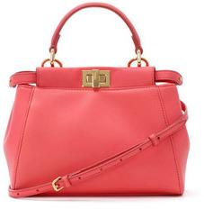 Fendi Peekaboo Mini Satchel Bag, Pink