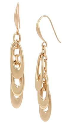 Robert Lee Morris Layered Oval Link Drop Earrings