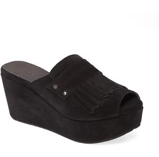 Chocolat Blu Welsy Peep Toe Platform Slide Sandal