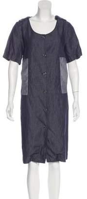 MM6 MAISON MARGIELA Chambray Shirt Dress